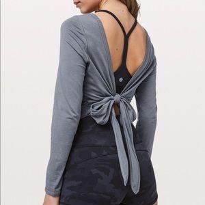 Lululemon Its A Tie Long Sleeve Steam Blue